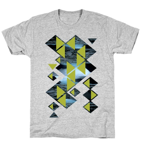 Glacier Collage Mens T-Shirt