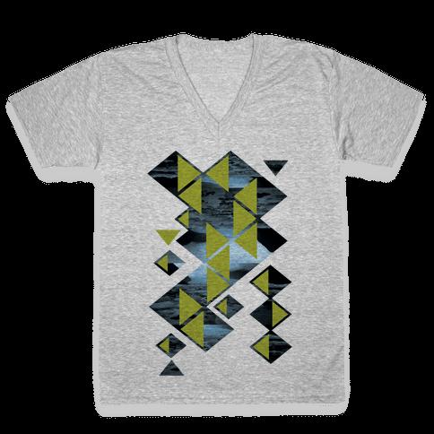 Glacier Collage V-Neck Tee Shirt