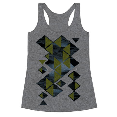 Glacier Collage Racerback Tank Top