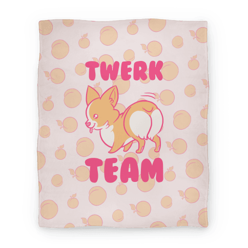 Twerk Team Corgi Blanket