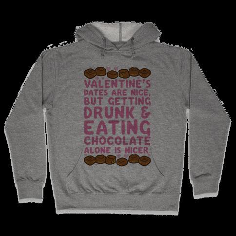 Valentines Dates And Chocolate Hooded Sweatshirt