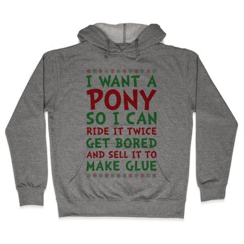 Grinch Pony Hooded Sweatshirt