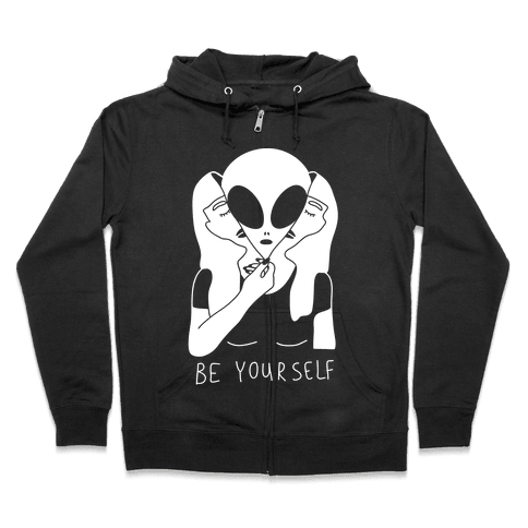 Be Yourself Alien Zip Hoodie