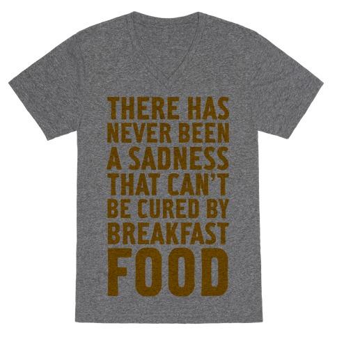 Breakfast Food V-Neck Tee Shirt