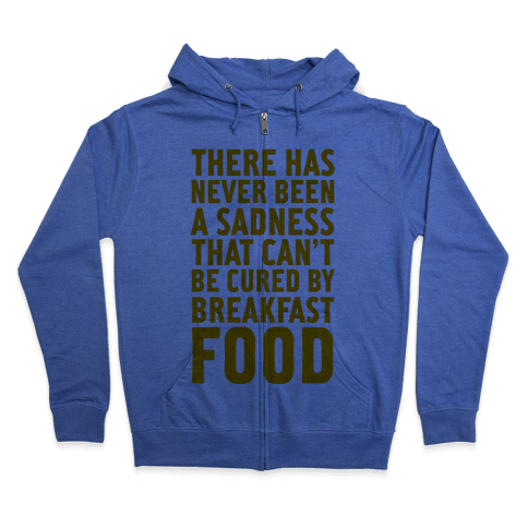 Breakfast Food Zip Hoodie