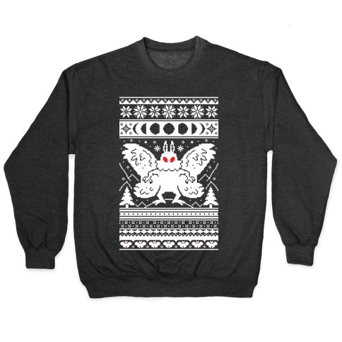 Mothman Ugly Sweater Pattern Pullover