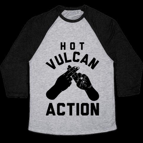 Hot Vulcan Action Baseball Tee