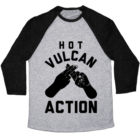 Hot Vulcan Action Baseball Tee