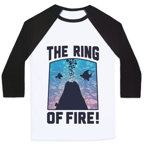 The Ring of Fire (V-Neck) Baseball Tee