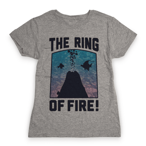 The Ring of Fire (V-Neck) Womens T-Shirt