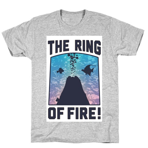 The Ring of Fire (V-Neck) Mens T-Shirt
