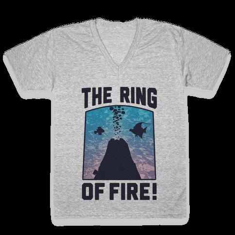 The Ring of Fire (V-Neck) V-Neck Tee Shirt