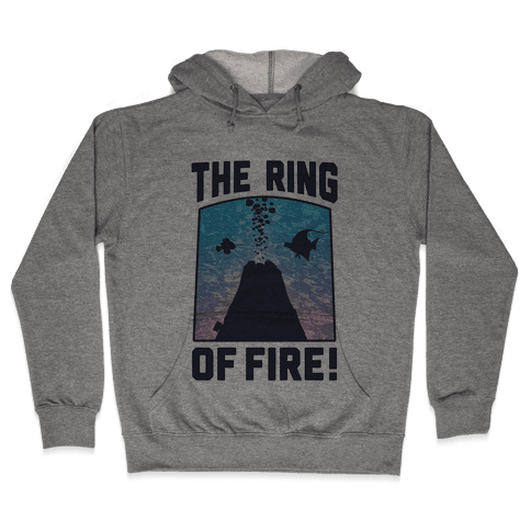 The Ring of Fire (V-Neck) Hooded Sweatshirt
