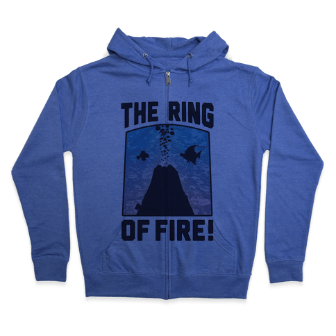 The Ring of Fire (V-Neck) Zip Hoodie