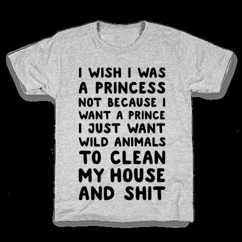 I Wish I Was A Princess Kids T-Shirt