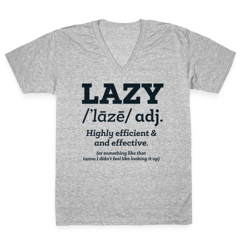 Lazy Definition V-Neck Tee Shirt