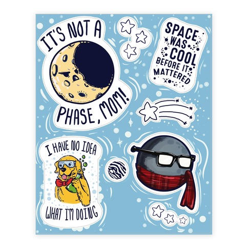 Space is AWESOME  Sticker/Decal Sheet