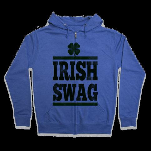 Irish Swag Zip Hoodie
