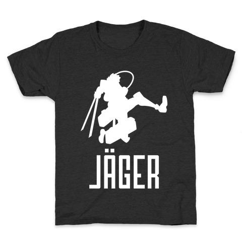 Eren Jaeger Silhouette Kids T-Shirt