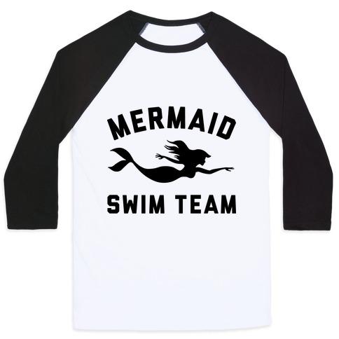 Mermaid Swim Team Baseball Tee