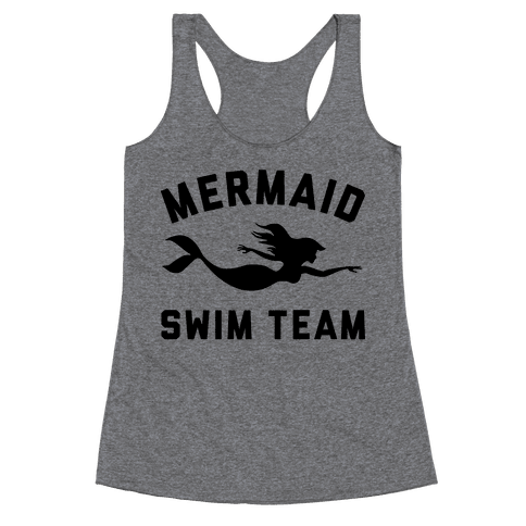 Mermaid Swim Team Racerback Tank Top