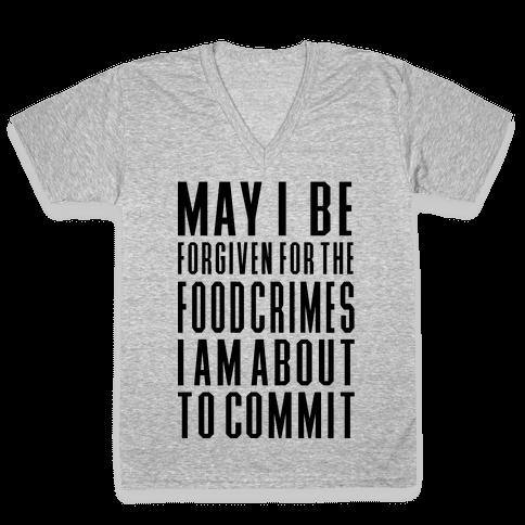 Food Crime V-Neck Tee Shirt