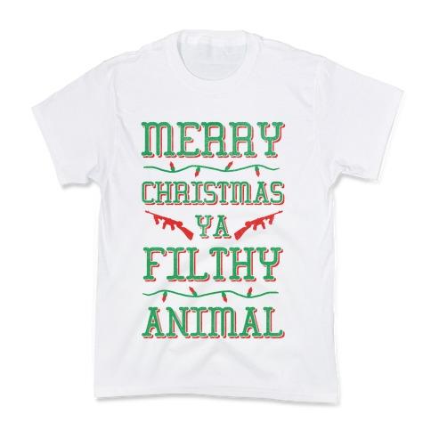 Merry Christmas Ya Filthy Animal Shirt.Merry Christmas Ya Filthy Animal T Shirt Lookhuman