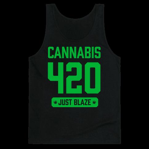 Cannabis 420 Varsity Tank Top