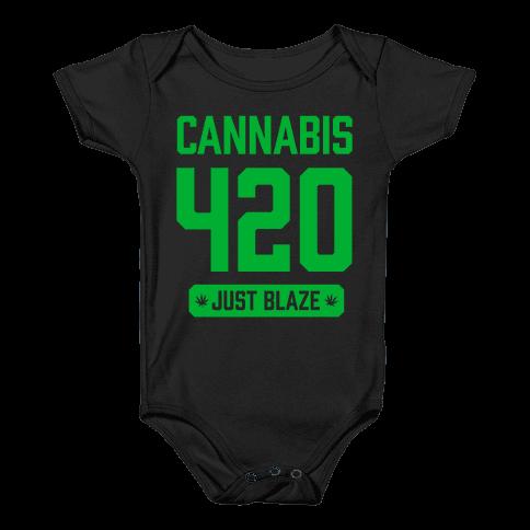 Cannabis 420 Varsity Baby Onesy