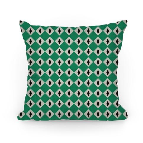 Slytherin Crest Snake Eyes Pillow