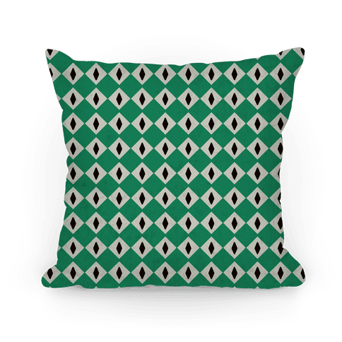 Slytherin Crest Snake Eyes Pillow