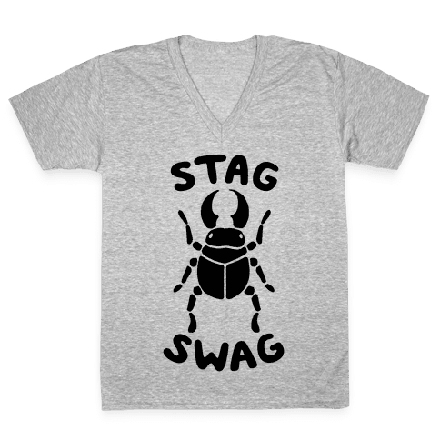 Stag Swag V-Neck Tee Shirt