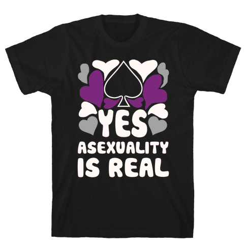 Yes Asexuality Is Real Mens T-Shirt