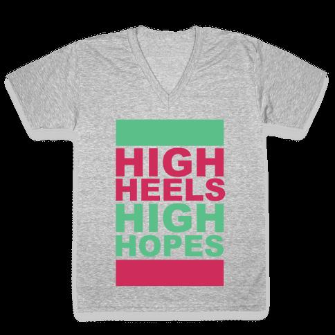 Heels and Hopes V-Neck Tee Shirt