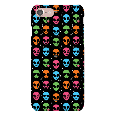 Alien Emoji Pattern Phone Case