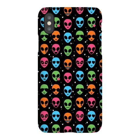 Alien Emoji Pattern Phone Case
