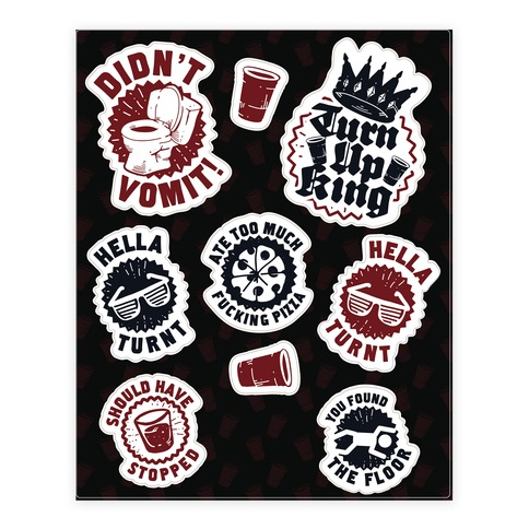 Party Achievements Sticker/Decal Sheet