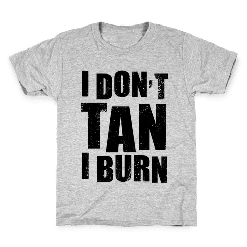 I Don't Tan (Neon Tank) Kids T-Shirt