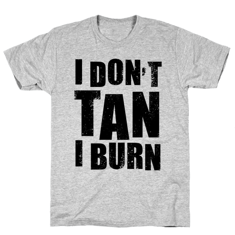 I Don't Tan (Neon Tank) Mens T-Shirt