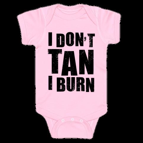 I Don't Tan (Neon Tank) Baby Onesy