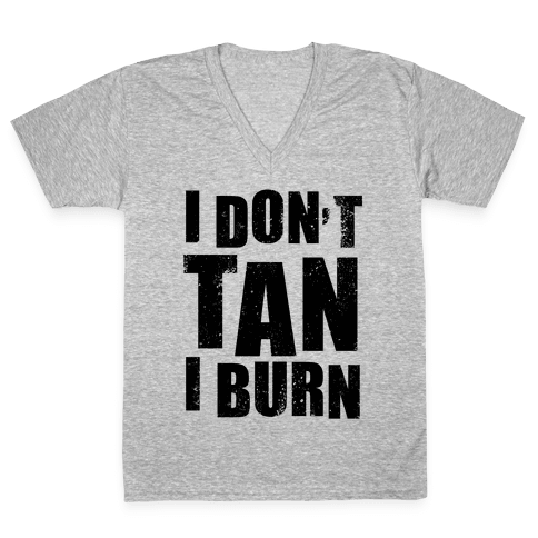 I Don't Tan (Neon Tank) V-Neck Tee Shirt