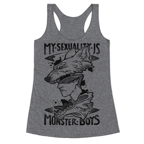 My Sexuality Is Monster Boys Racerback Tank Top