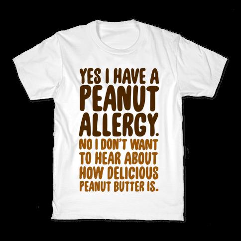 Peanut Allergy Kids T-Shirt