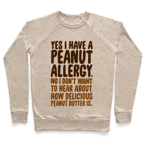 Peanut Allergy Pullover