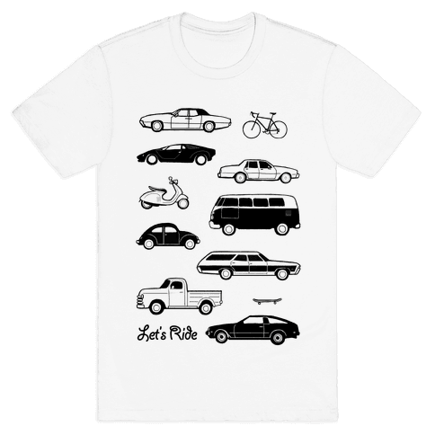 Let's Ride Mens T-Shirt
