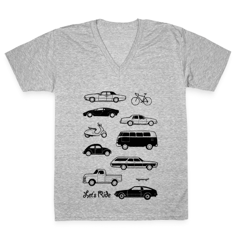 Let's Ride V-Neck Tee Shirt