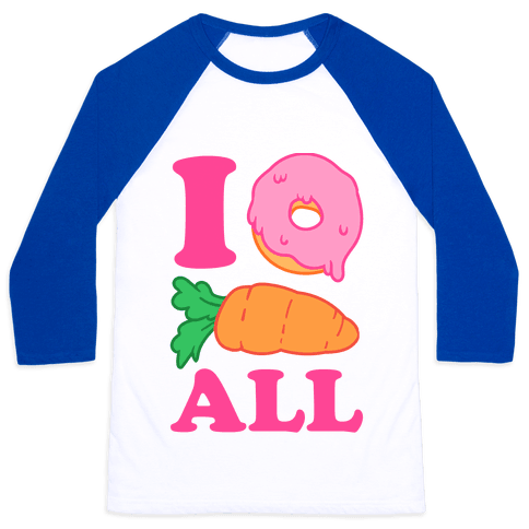 I Donut Carrot All Baseball Tee