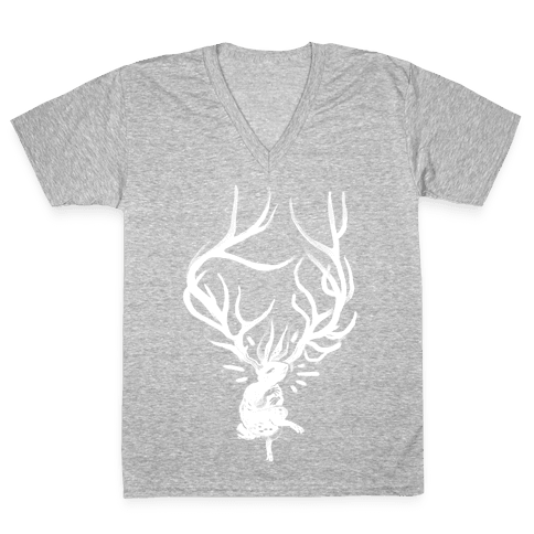 A Jackalope's Lullaby V-Neck Tee Shirt