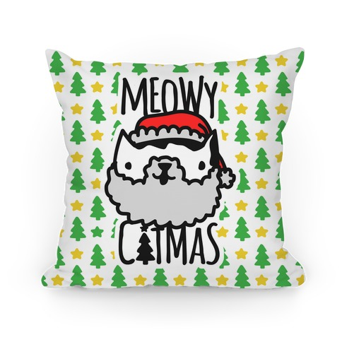 Meowy Catmas Pillow