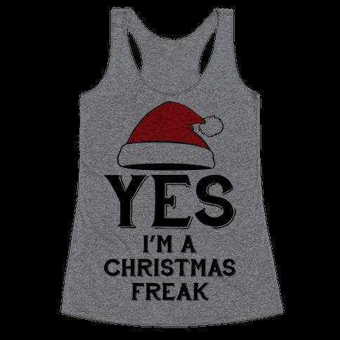 Christmas Freak Racerback Tank Top